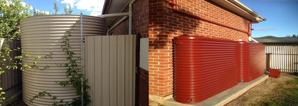 Custom built on site small space|Slimline tanks installed