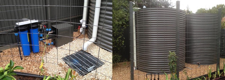 Pump and filters setup Series of custom built tanks for small area