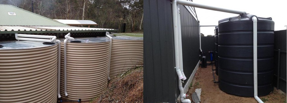 Custom built on site to fit area|Installed poly tanks
