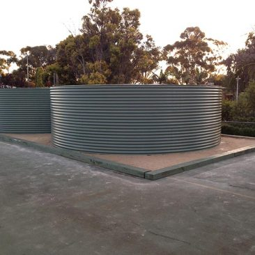 2 Built on site 50,000ltr Aquaplate tanks