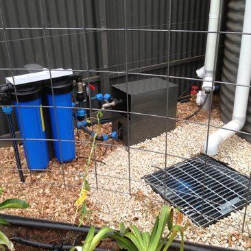 Pump and filter setup