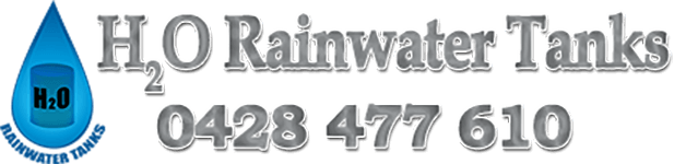 h2o rainwater tanks logo and phone number