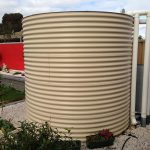 Aquaplate rainwater tank cream colour