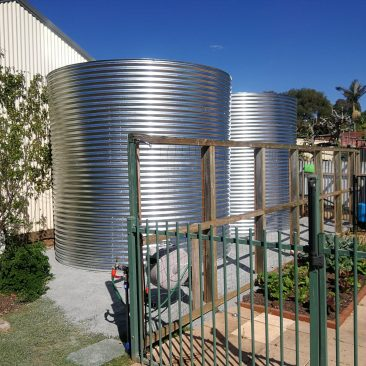 20,000ltr rainwater tanks in Magill established garden tight area