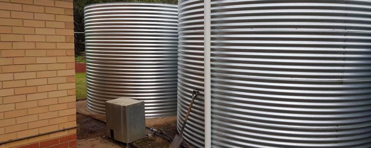 Completed rainwater tanks at Meadows, SA