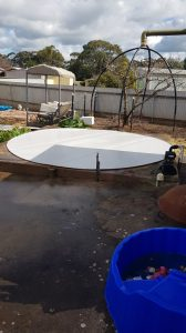 Base and liner for new rainwater tank