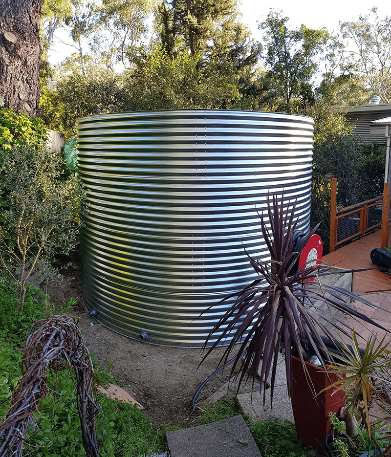 completed rainwater tank
