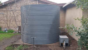 Completed Rainwater Tank at Leawood Gardens, SA