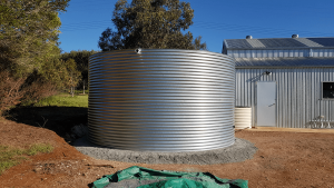 galvanised steel rainwater tank