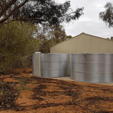 Completed rainwater tanks Paringa SA
