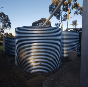 2 galvanised rainwater tanks at prospect hill sa all plumbed in