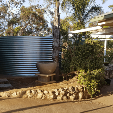 Completed rainwater tank Hartley SA