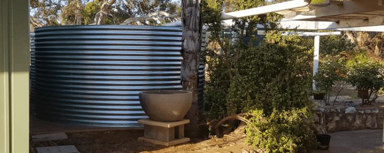 Completed rainwater tank Hartley SA