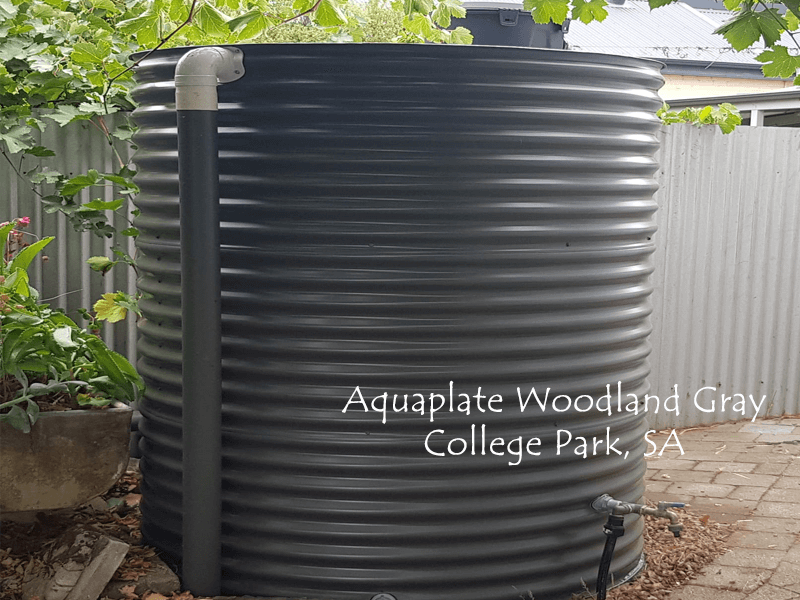 Aquaplate Woodland Gray Rainwater Tank