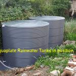 Rainwater tanks in position