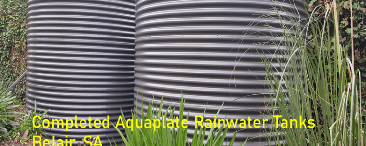 rainwater tanks in thier position