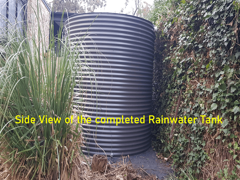 aquaplate tanks next to wall in Belair